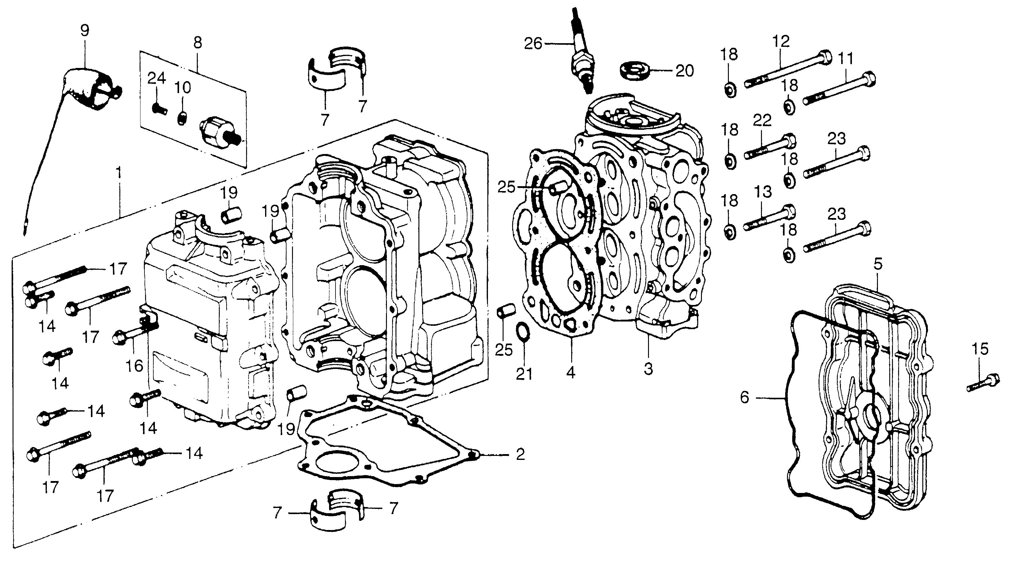 10 hp honda outboard parts diagram  u2022 wiring diagram for free