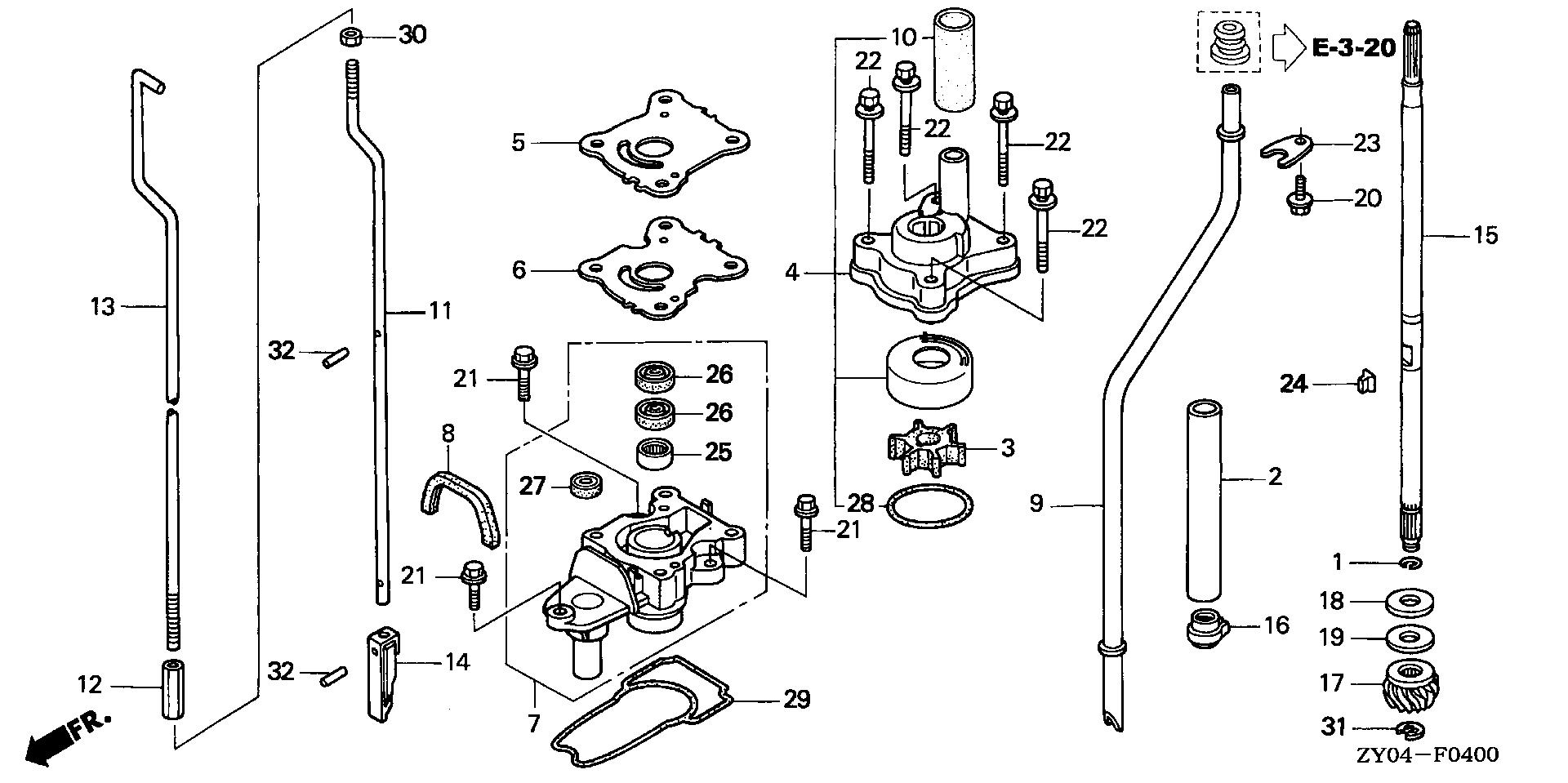 Honda Marine Parts Look Up Official Site Fuel Pump Diagram Water Vertical Shaft 1