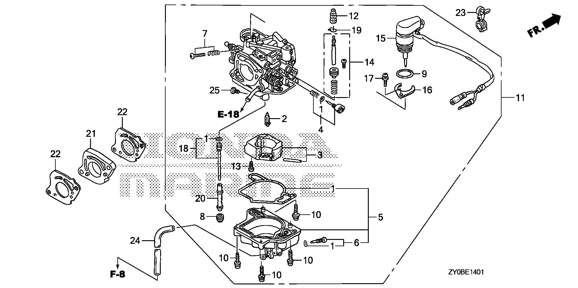 9 Hp Honda Engine Wiring Diagram Library 55 Chrysler Outboard Carburetor Auto Marine Parts
