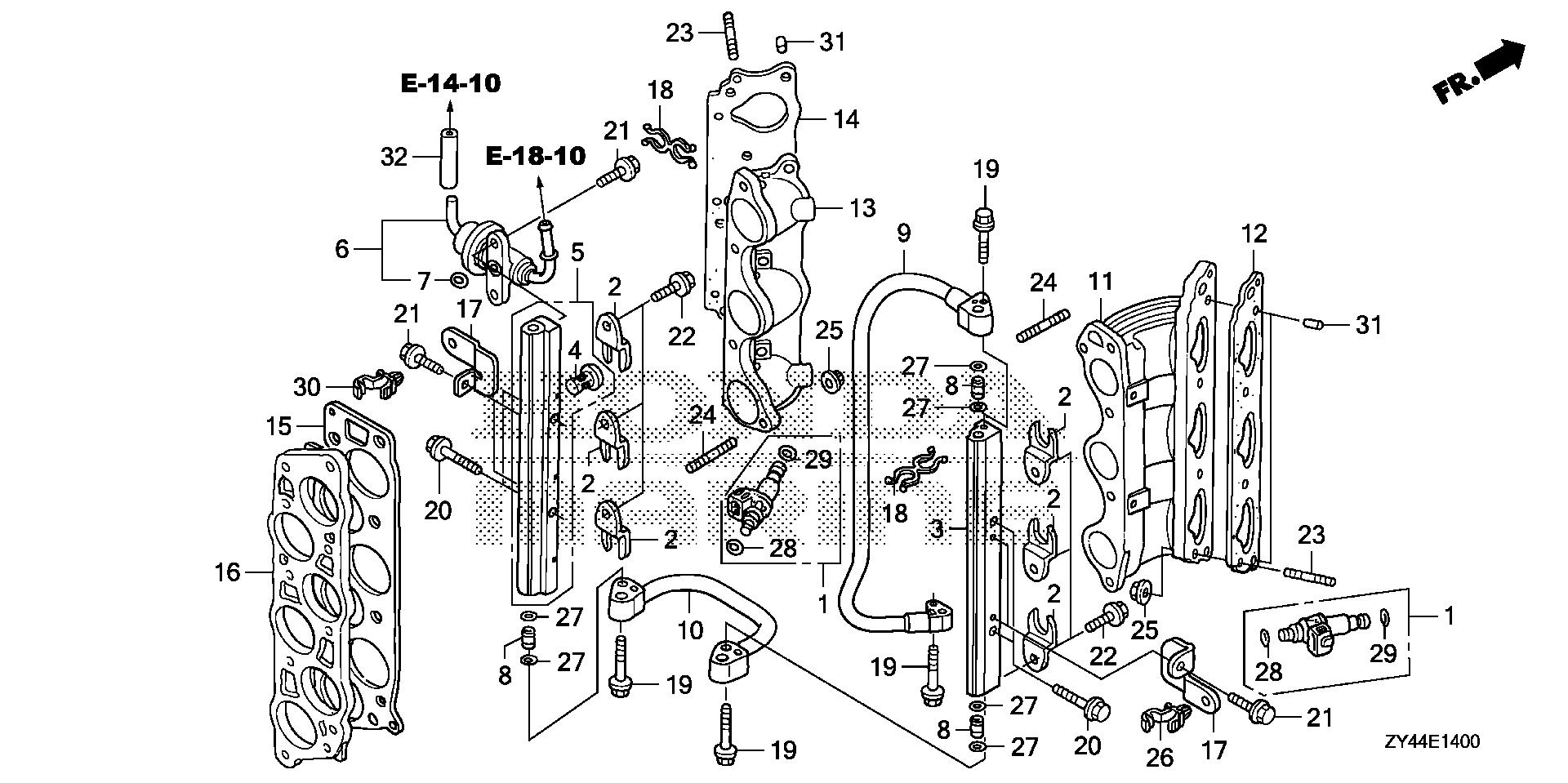 Honda Marine Parts Look Up Official Site Fuel Injector Diagram Pipe