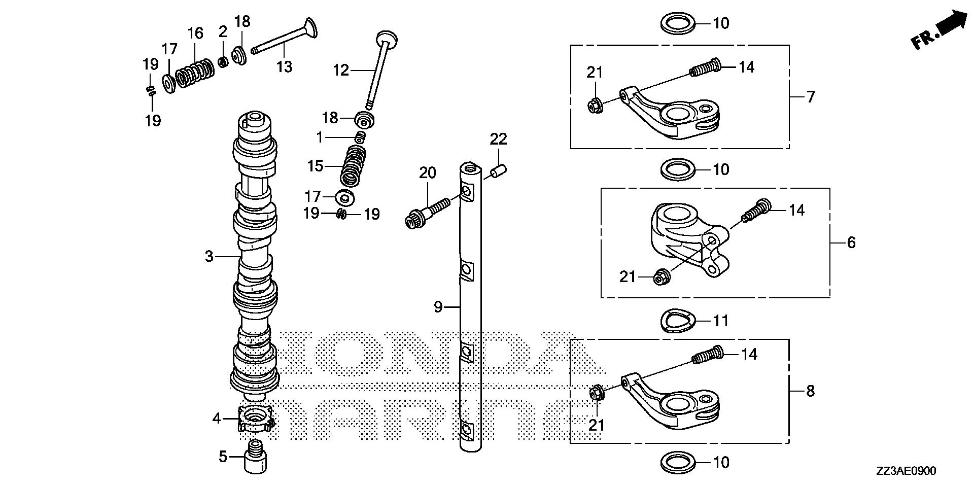 Honda Marine Parts Look Up Official Site Bf60 Wiring Diagram Camshaft
